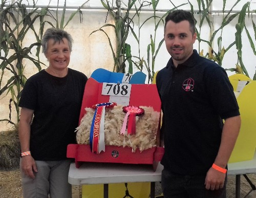 Mandy wins Champion Fleece at Pembrokeshire County Show