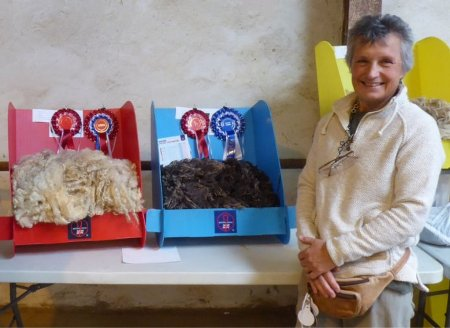 Champion and Reserve Champion Fleeces at Pembrokeshire County Show