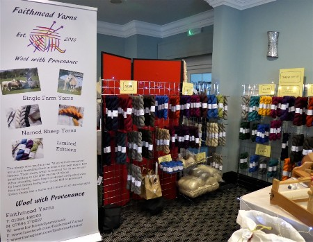 Faithmeed Yarns stand at Wool Show